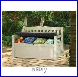 Cabinet Outdoor Garden Storage Bench Storage Sit on Garden Bench Large Box Eden