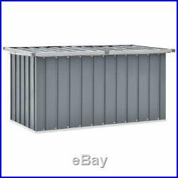 Cabinet Outdoor Garden Storage Plastic Box Galvanised Steel & Plastic Grey NEW