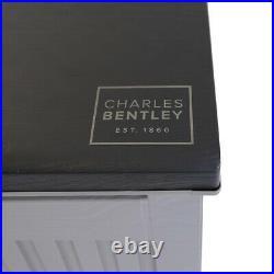 Charles Bentley 390L Large Outdoor Garden Plastic Storage Box, Grey/Black