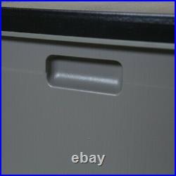 Charles Bentley 490L Large Outdoor Garden Plastic Storage Box, Grey/Black