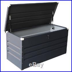 Charles Bentley Metal Storage Chest with Lock & Key Waterproof Seal Hydraulic Lid