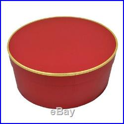 Christys' Classic (Large) Red Hat Box for Wide Brim Hats