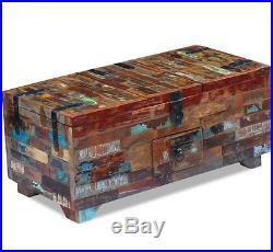 Chunky Coffee Table Industrial Vintage Blanket Large Rustic Wood Toy Storage Box