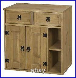 Corona Cabinet Accessories Storage Staircase Cube Boxes Light Waxed Solid Pine
