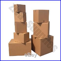 DOUBLE WALL CARDBOARD BOXES Suitable for Packing Removal Storage Shipping Brown