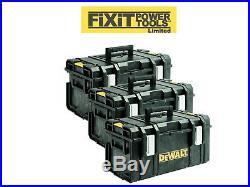 DeWALT 3 X DS300 1-70-322 XR Toughsystem Empty Stackable Power Tool Storage Box