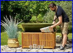 Deck Storage Garden Box Wooden 120cm Trunk Outdoor Protection Tools Container