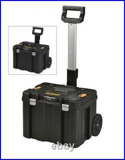Dewalt DEW181682 TStak Rolling Mobile Tool Storage Box + Open Tote Tool Box Case