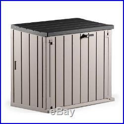 Double Wheelie Bin Storage Shed Tool Plastic Outdoor Garden Box Large Store Door