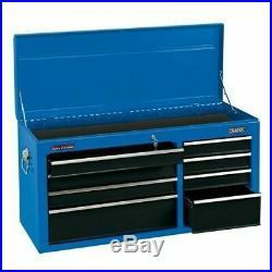 Draper 40 Tool Storage Top Chest 8 Drawer Ball Bearing Slide Tool Box Lockable