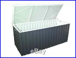 Dura Large Outdoor Garden Patio Storage Box Container Chest Steel Mini Shed New