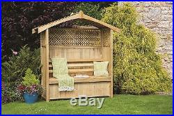 EXTRA LARGE GARDEN ARBOUR, with garden storage box for tools etc, stunning