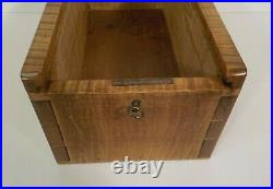 Early-Mid 1800's Large American Tiger Maple Candle Storage Box, Rare