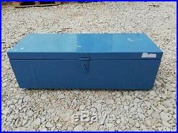 Ex Army MOD Large Metal Storage Box Lockable Truck Van Tool Safe Secure Chest