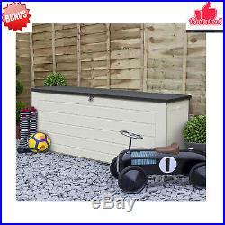Extra Large 680L Outdoor Garden Storage Box Plastic Utility Chest Storage Bench