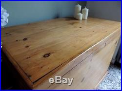 Extra Large Blanket Box / Chest / Coffee Table / Storage Antique Solid Pine
