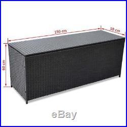Extra Large Garden Storage Box Bin Cushion Container Outdoor Deck