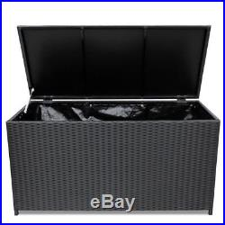 Extra Large Garden Storage Box Bin Cushion Container Outdoor Deck Store Patio
