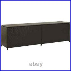 Extra Large Garden Storage Box Rattan Wicker Patio Deck Furniture Organiser 2m
