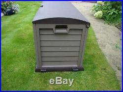 Extra Large Garden Storage Box XL Shed Garage Chest Utility Outdoor Tool Waterpr