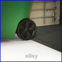 Extra Large Garden Wheelie Bin Storage Patio Outdoor Furniture Shed Beige Brown