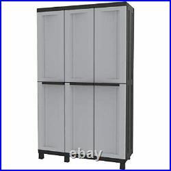 Extra Large Grey Garden Storage Tool Box Cabinet Garage Shed Shelves Lockable