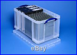 Extra Large Multi-Pack Really Useful Box Clear Strong Plastic Lidded Storage