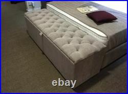 Fabric Blanket Box Large Chesterfield Storage Ottoman Pouffe Seat Footstool UK