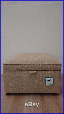 Fabric Footstool with storage pouffe, toy box, XLarge, Large, Medium, Small