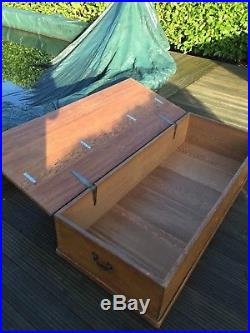 Fabulous Large Vintage Pine Trunk Box Coffee Table Bed Storage