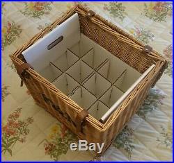 Fortnum & Mason F&M Genuine Large Wicker Hamper Basket, toy box, storage