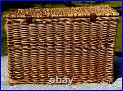 Fortnum and Mason F&M Large Hamper Basket Wicker Storage Coffee Table Toy Box
