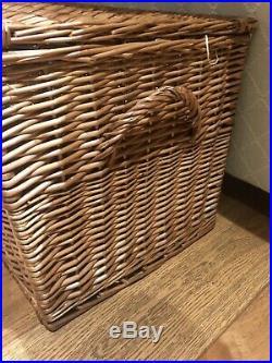 Fortnum and Mason large picnic hamper basket coffee table storage box large NEW
