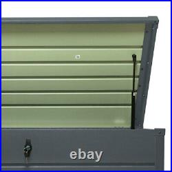 Galvanised Steel Garden Storage Waterproof Chest Utility Cushion Box Shed Tools