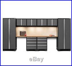 Garage Storage Cupboards Wall Metal Units Large Tool Box Workbench Cabinet Set
