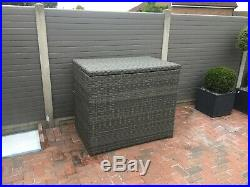 Garden Furniture. Cushion Storage Box Grey Large