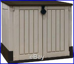 Garden Patio Outdoor Large Wheelie Bins Plastic Storage Box Container Shed Unit
