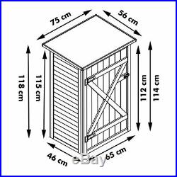 Garden Shed Cupboard Storage Tools Holder Wooden Large Shelved Closet Box DIY