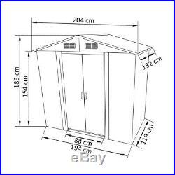 Garden Shed Storage Large Yard Store Door Building Tool Box Galvanised Steel NEW