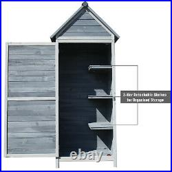 Garden Shed Storage Large Yard Store Door WOOD Roof Building Tool Box Container