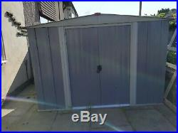 Garden Shed Storage Large Yard Store Metal Roof Building Tool Box 8FT X 6FT