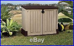 Garden Storage Box Chest Patio Large Waterproof Outdoor Shed Durable Home Garden