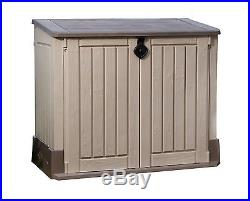 garden storage box chest patio large waterproof outdoor shed durable home garden storage boxes. Black Bedroom Furniture Sets. Home Design Ideas