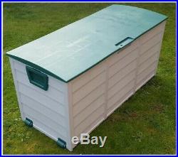 Garden Storage Box Extra Large Plastic Outdoor Chest Waterproof Store Outdoor