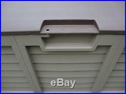 Garden Storage Box Extra Large Shed Plastic Weatherproof Tools Garage Sturdy New