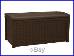Garden Storage Box Large Deck Bench Utility Cushion Patio Garage Waterproof 400L