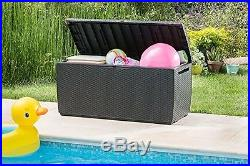 Garden Storage Box Outdoor Chest Patio Bench Furniture Seat Store Tools Large