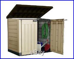 Garden Storage Box Outdoor Plastic Bin Wheelie Bike Tool Store Shed Large Keter