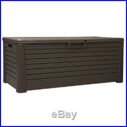 Garden Storage Box Utility Chest Weatherproof Large Plastic Seat Outdoor Garden Storage Boxes Large