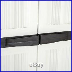 Garden Storage Cupboard Outdoor Utility Cabinet Waterproof Plastic unit shed